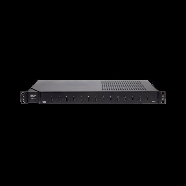 "Digi Hubport/14 14-portowy HUB USB2.0, RACK 1U 19"""