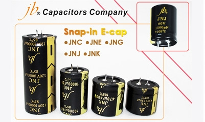 Kondensatory typu Snap-in firmy jb Capacitors